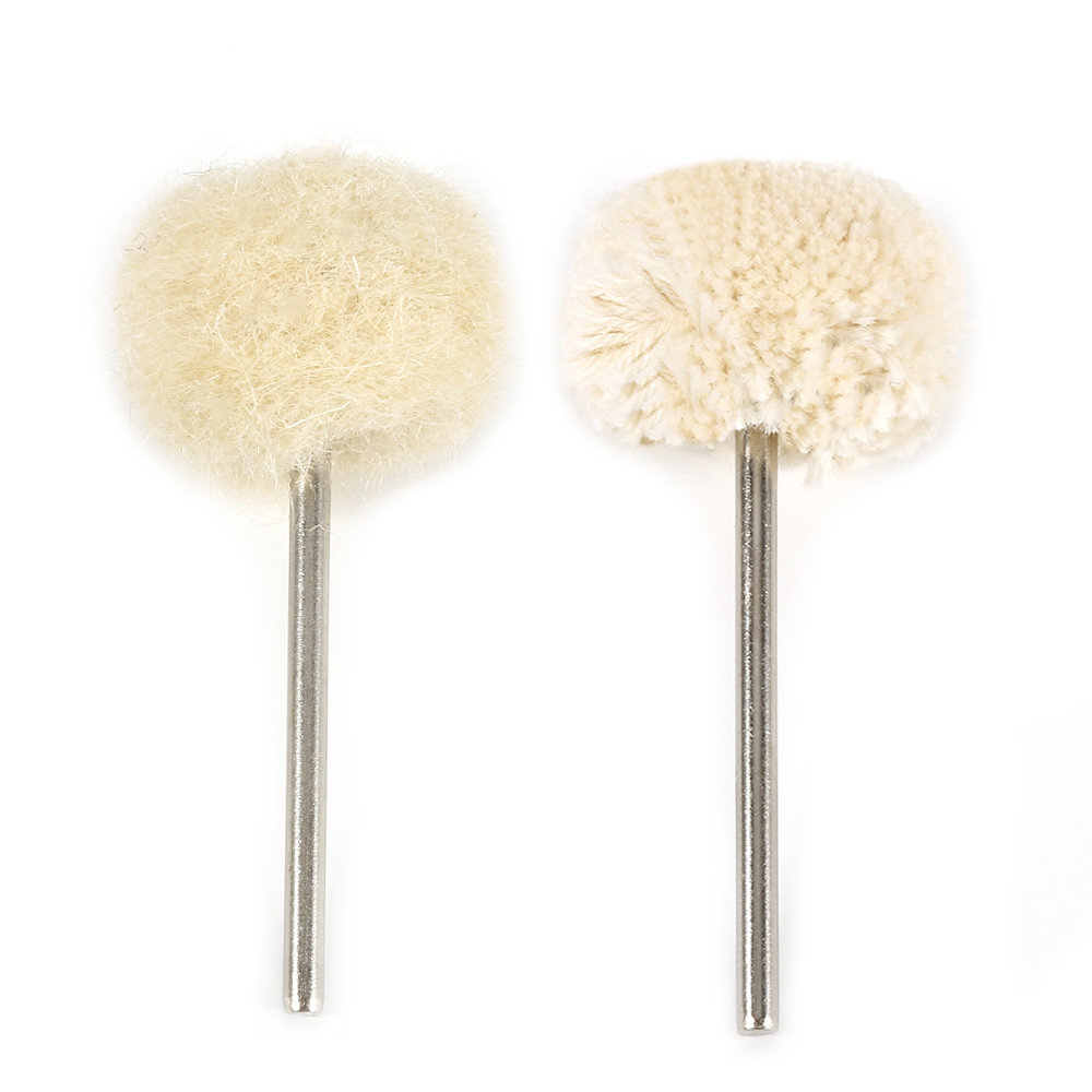 2.35mm Shank Knitting Wool/Cotton Polishing Brush Grinding Buffing Wheel Grinder Brushes For Rotary Tool Dental Accessories