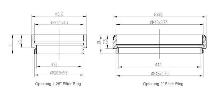 """Купить Optolong 2 """"h-бета фильтр для Ахроматический рефрактор дешево"""