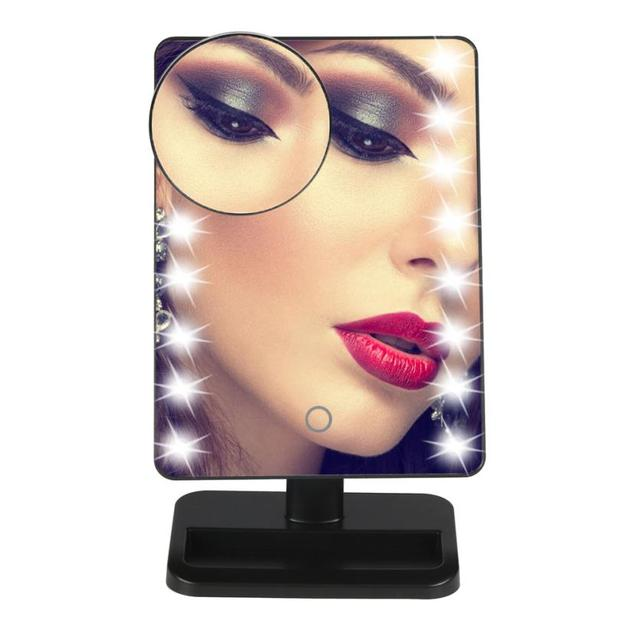 Beauty Girl 10X Magnifie Lighted Amazing Makeup Mirror 20 LED Touch Screen Cosmetic Vanity Mirror F17X18