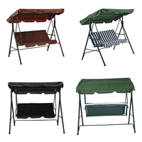 Panana Children Adult Garden 2/3 Seater Outdoor Patio Metal Swinging Chair Hammock Bench Canopy Kids Playing Swing