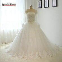 AMANDA NOVIAS Customized Long Sleeve Wedding Dress