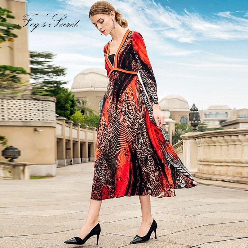2019 femmes vraie robe en soie pour léopard imprimé fleur léopard robe Unique tribu lâche vestidos occasionnel