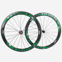 50mm Bicycle Road Wheels Full Carbon Tubular Type Road Wheelset Carbon Wheels With Skewers Braking Pads