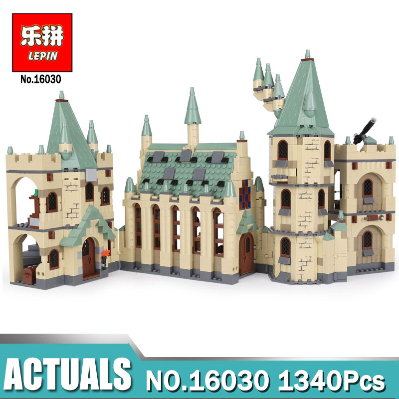 Lepin 16030 Movie Series The Hogwarts Castle Set 1340pcs Building Blocks Bricks Compatible Legoing 4842 Toys Model As Gift lepin 16030 1340pcs movie series hogwarts city model building blocks bricks toys for children pirate caribbean gift