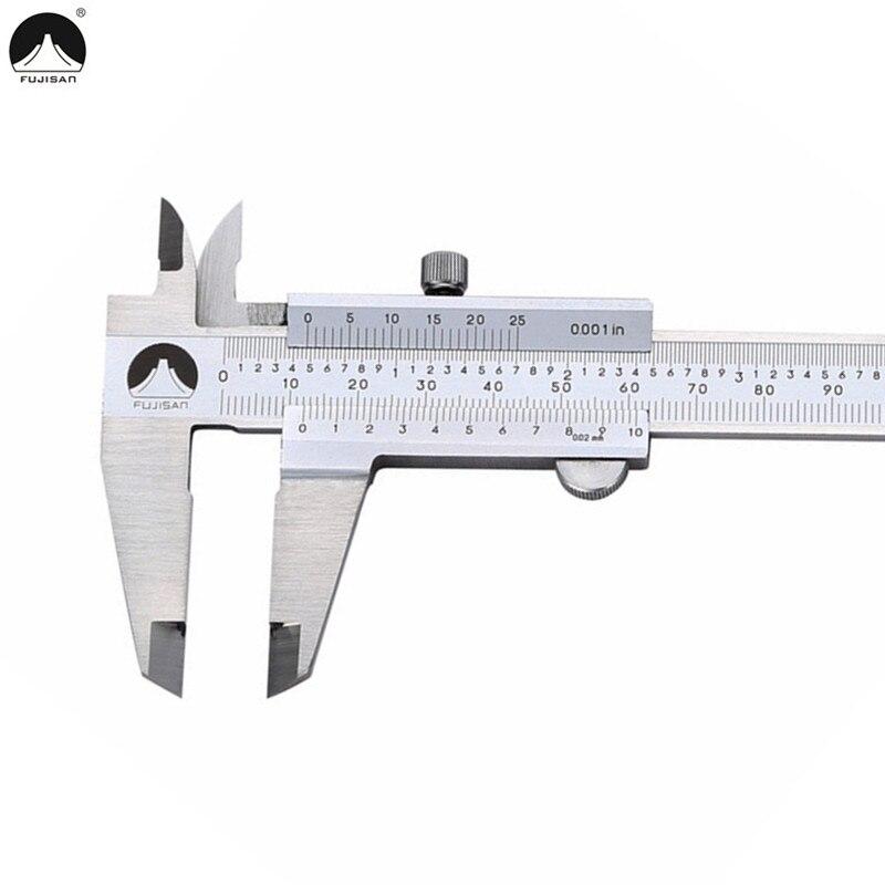 FUJISAN Vernier Caliper 0-150mm 0.001inch Stainless Steel Calipers Metric/Inch Micrometer Gauge Measuring Tool