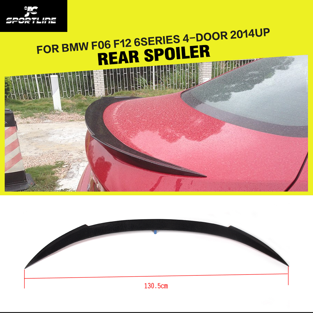 Carbon Fiber / FRP Auto Rear Trunk Wing Spoiler Lip Car-Styling for BMW 6 Series F06 F12 4-Door 2014UP Not for Convertible carbon fiber frp unpainted black rear trunk boot lip spoiler for bmw e82 2008 2011 trunk trim sticker custom spoiler car styling