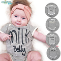 Preax Kids Baby Rompers letter MILK Cotton Baby Overalls Summer Infant Jumpsuit Boy Girl Baby Clothes Newborn Bebe Bib Romper