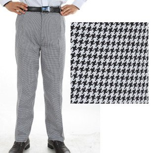 Kitchen Pants Chair Pads Men S Checkered Chef Hotel Work Waterproof Anti Oil
