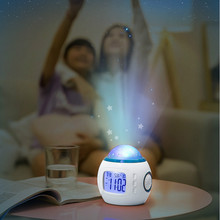 Glow In The Dark Toys Music Alarm Clock Calendar Creative Multi-funciton Stars Sky Projector Light Up Alarm Toy Noctilucent Toys