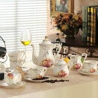 15 pcs set bone china ceramic coffee set & 8 pcs set coffee set with tray and in gift box