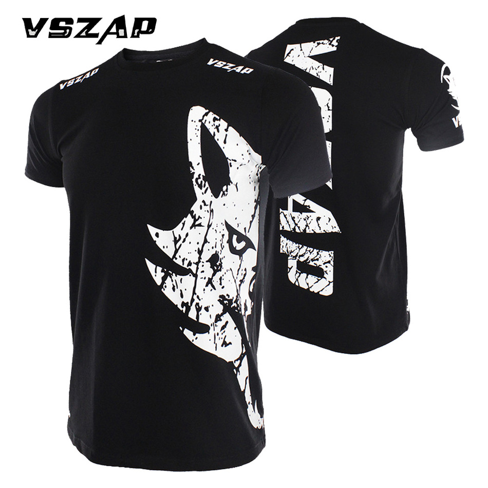 Футболка VSZAP для занятий боксом и ММА, футболка для занятий в тренажерном зале, для боев, для занятий спортом, муай тай, Мужская футболка