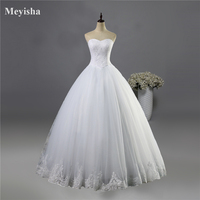 ZJ9021 2016 Fashion Beads Crystal White Ivory Wedding Dresses For Brides Plus Size Formal Sweetheart 2