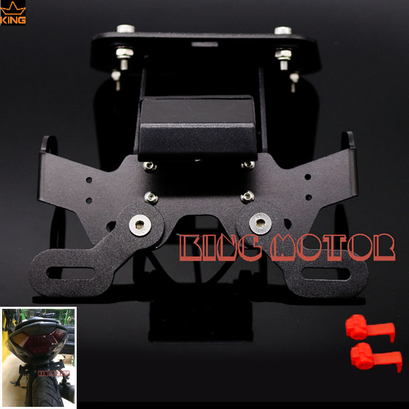 For YAMAHA YZF-R3 YZF-R25 MT-25 MT-03 YZF R3 YZF R25 Motorcycle Accessories License Plate Holder LED License Plate Led Light motorcycle cnc aluminum mudguard rear fender bracket license plate holder light for yamaha yzf r25 r3 yzf r25 yzf r3