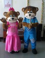 Custom 2pcs Sundown Farm Bears Mascot Costume Halloween Christmas Birthday Celebration Carnival Dress Full Body Props