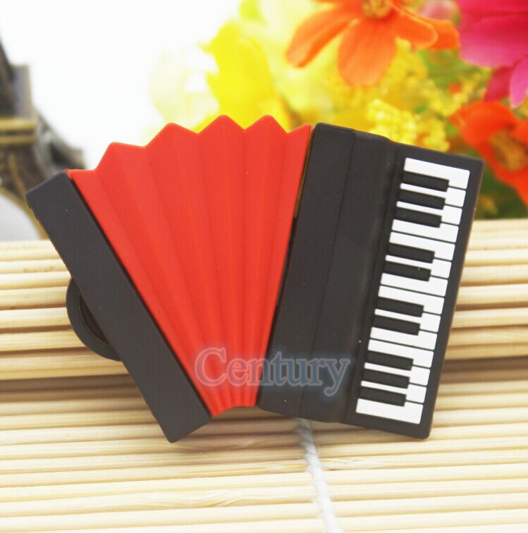 Us 244 100 Real Capacity Accordion Model Usb Flash Drives Piano Memory Stick Pendrives 8gb 16gb 32gb Musical Instrument Usb Creativo In Usb Flash