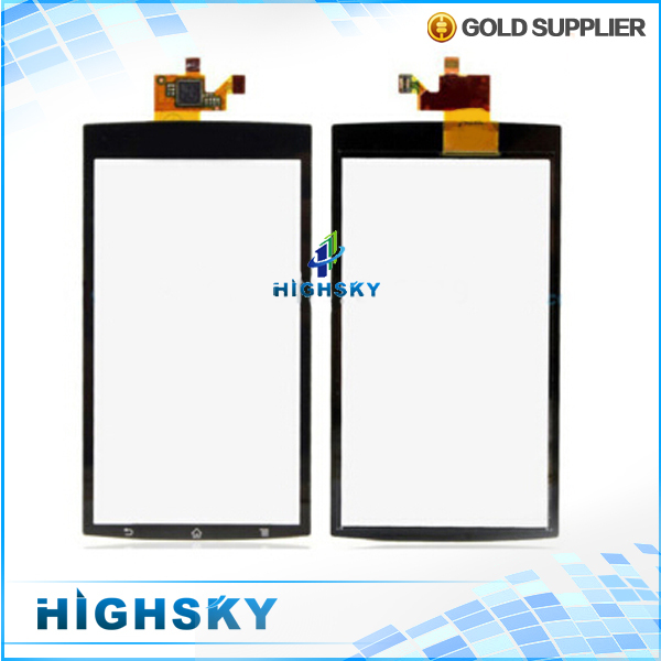 1 piece free shipping new 4.2 inch black for Sony Xperia Arc S LT15i LT18i X12 touch screen glass with flex cable digitizer