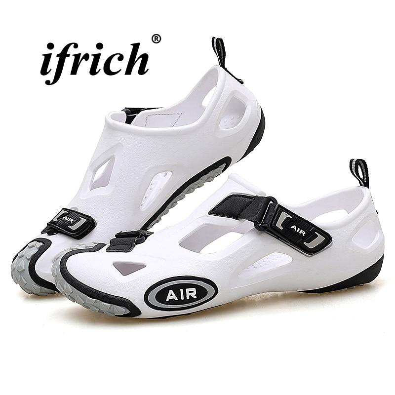 Couples Sandals White Men Casual Shoes Comfortable Flat Sandals for Men Lightweight Summer Men Shoes Breathable Beach Footwear цена 2017