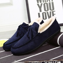 Winter Men Plush Warm Shoes Zapatos De Hombre Fashion Sneakers Man Casual Loafers Europe Brand Design Slip-on Flock Best Sellers