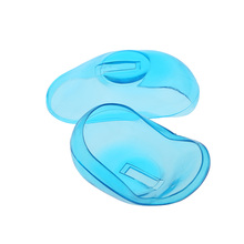 2PCS Transprarent Silicone Ear Cover Hair Dye Shield Protect Salon Hair Styling Tool Accessory Ear Care Blue