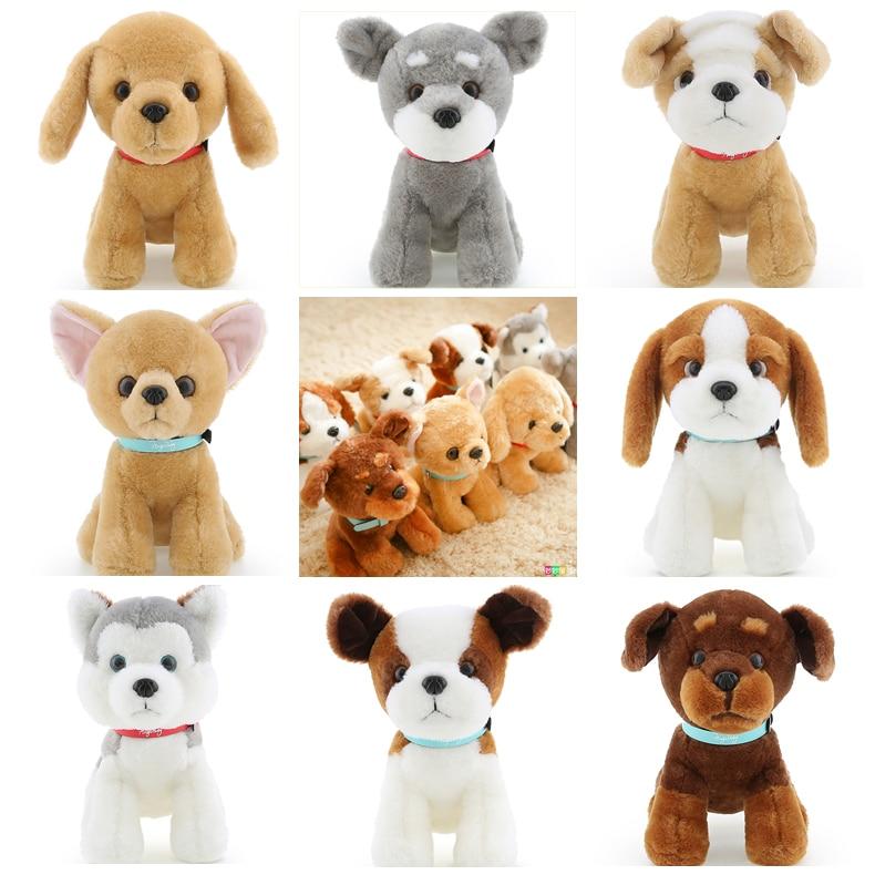 1pc 22cm cute schnauzer Huskie chihuahua Golden Retriever yellow dog little plush doll wedding gift novelty girl stuffed toy