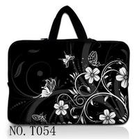 Black White Flower 13 13 3 Laptop Sleeve Case Bag Pouch Cover For Apple Macbook Pro