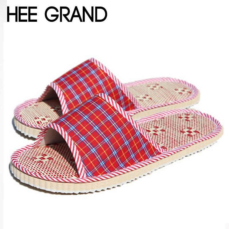HEE GRAND Women's Wooden Floor Slides Indoor Slippers Absorb Sweat light Shoes Women Slip-on Causal Shoes Cool Summer
