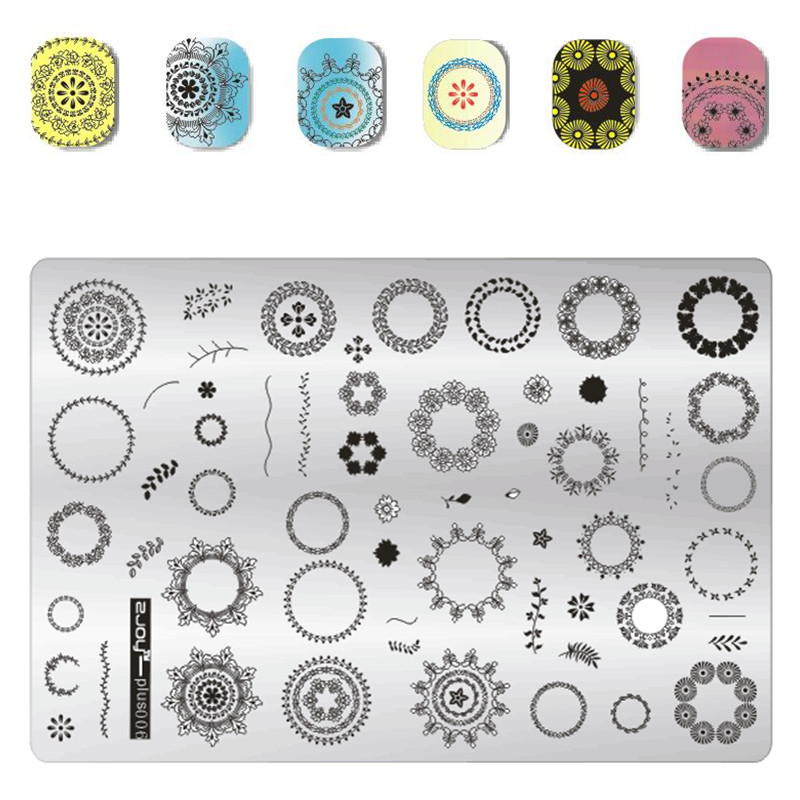 Ocean Theme Nail Stamping Plate Stencils Animal Nail Stamp Template Big Size Image Plates Manicure DIY Nail Art Design nail stamping plates nail art stamp template image plate nails diy tool acrylic stamp wedding theme set 01 04