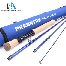 Maximumcatch Predator 9FT 9wt /10wt Saltwater Fly Fishing Rod 4 Section 30T SK Carbon Fly Rod with  Cordura Rod Tube