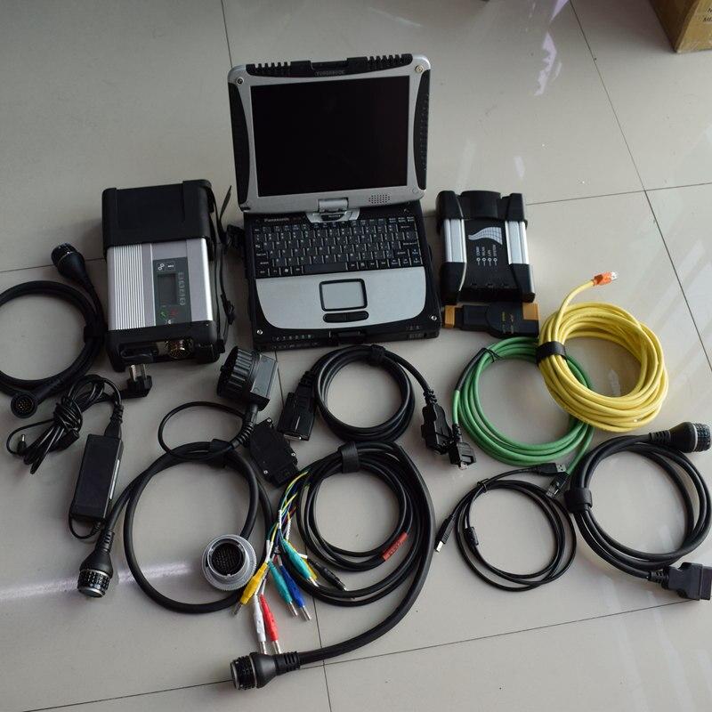 2018.12 v Outil De Diagnostic mb star c5 sd connect compact 5 + pour bmw icom prochaine un b c pour bmw + i5cpu toughbook cf-19 ordinateur portable 1 tb hdd