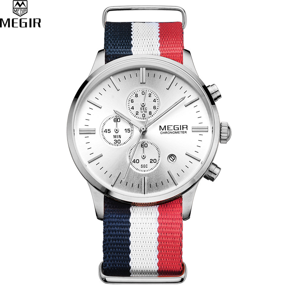 compare prices on accurate wrist watch online shopping buy low accurate travel time megir men discount sports watches men s quartz hour date clock nylon strap military