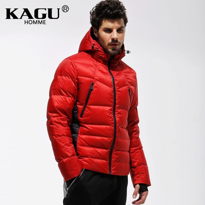 KAGU Brand new 2015 Fashion Mans Thicken White Duck Jacket Coat Hood Parka European Size 3411008