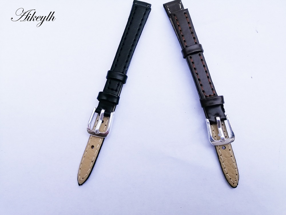 Aikeylh Watchband Watch Band Genuine Leather Straps 10mm Watch Accessories High Quality Watchbands Watch Strap for hours