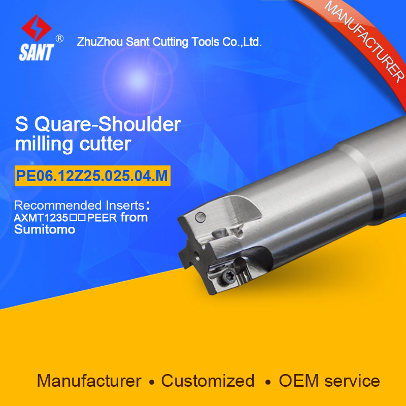 Square shoulder milling cutter Indexable insert AXMT1235PEER From Sumitomo disc PE06.12Z25.025.04.M hot selling abrod