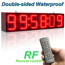 82cm Double-Sided RF Control Outdoor Waterproof Suspension LED Game Clock Display Marathon Basketball Football Training Timer