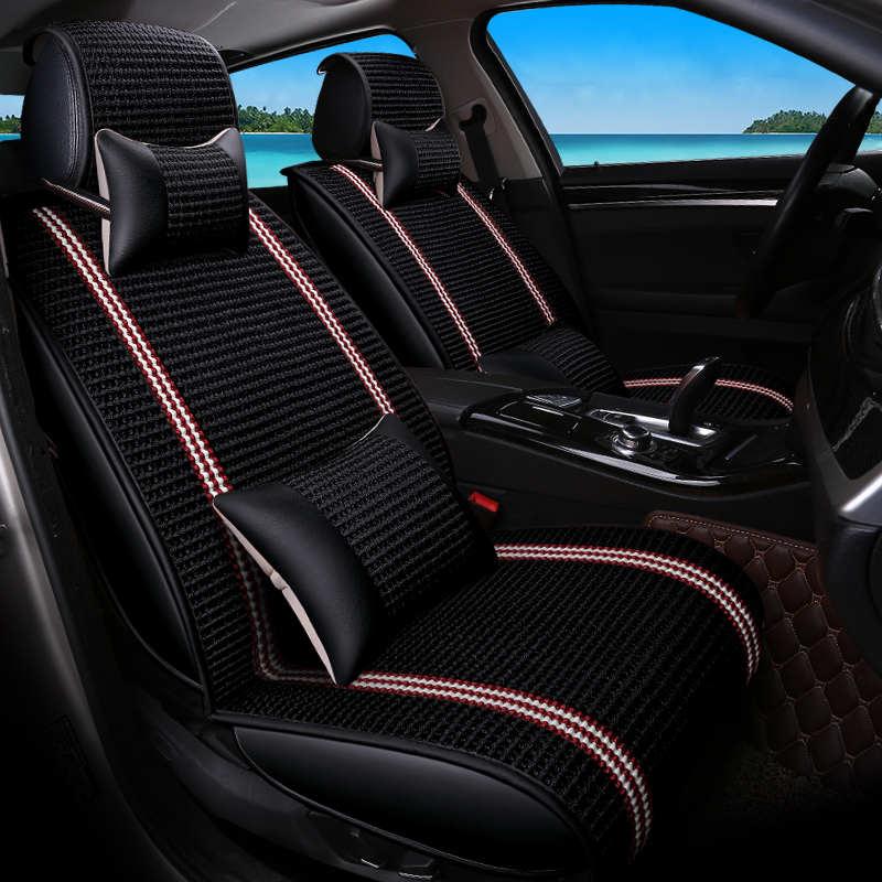 Новый Автокресло Обложка, шелк льда, универсальный сиденье Подушки, старший кожа спортивный автомобиль стиль, автомобиль-Стайлинг для седа...