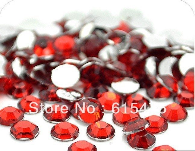 6mm LT.SIAM Color SS30 crystal Resin rhinestones flatback,Free Shipping 10,000pcs/bag 5mm black diamond color ss20 crystal resin rhinestones flatback free shipping 30 000pcs bag