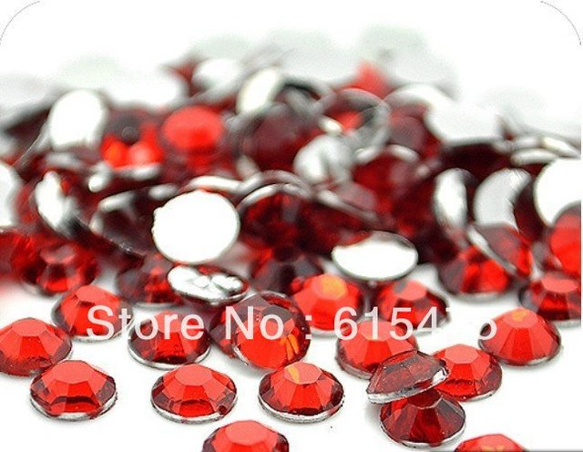 6mm LT.SIAM Color SS30 crystal Resin rhinestones flatback,Free Shipping 10,000pcs/bag