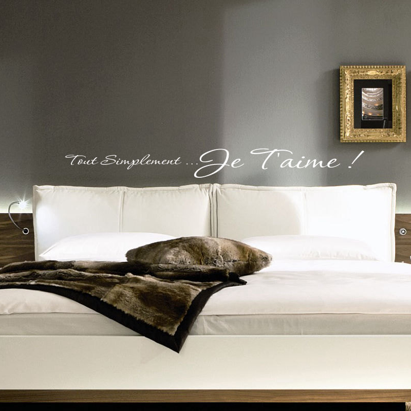 Aliexpress Buy Free Shipping I Love You French Bedroom Wall