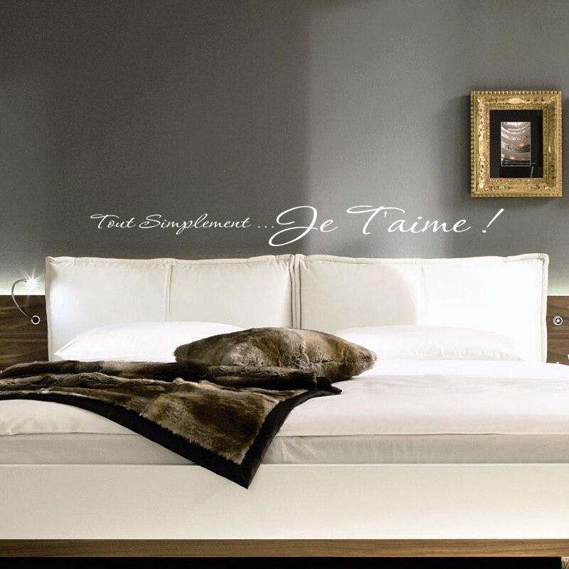US $4.82 25% di SCONTO|Spedizione gratuita ti amo Francese adesivi murali  Camera Da Letto, romantico citazione della parete decalcomanie per la  camera ...