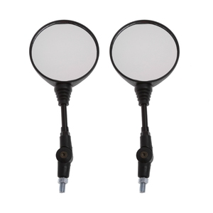Image 3 - Free shipping Universal 1 Pair Folding Motorcycle Side Rearview Mirror 10mm For Yamaha Honda High Quality