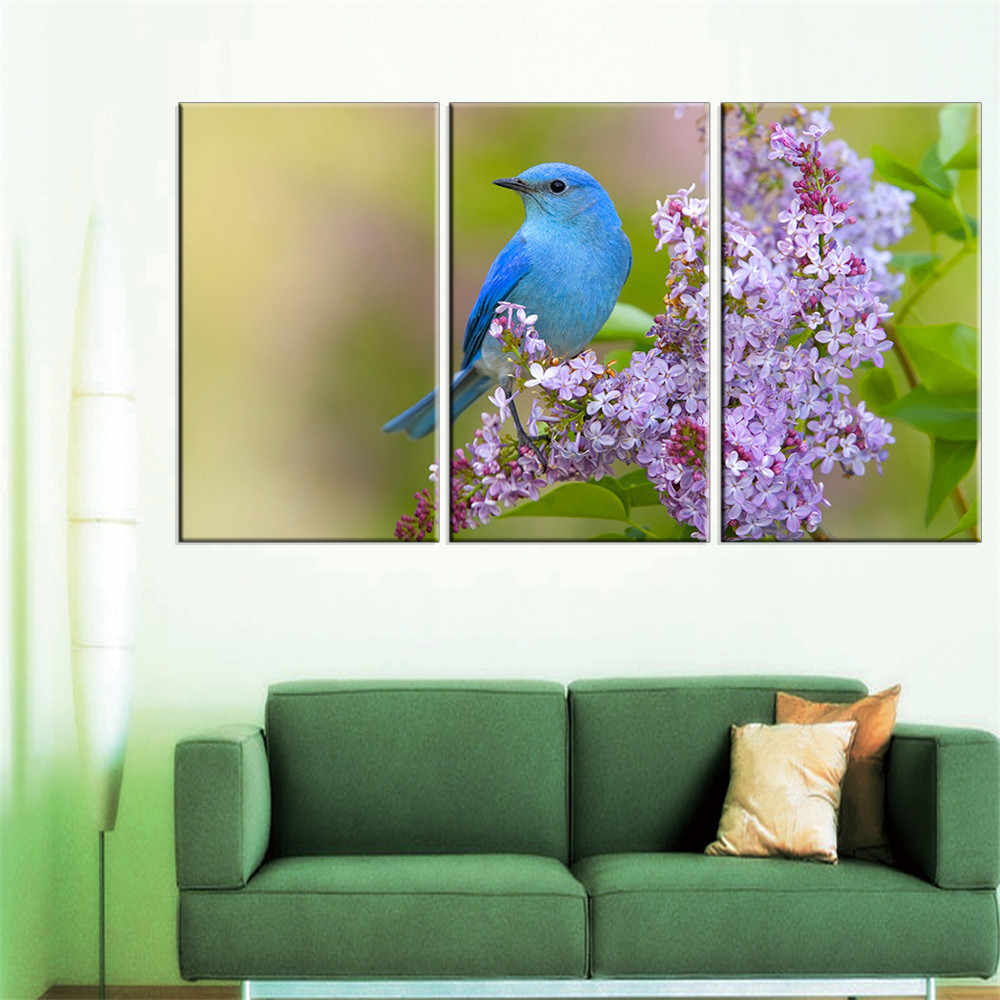 Canvas Painting Birds on The Flower Poster on Canvas Wall Painting Home Decoration Modern Oil Painting Art Gifts No Frame Art