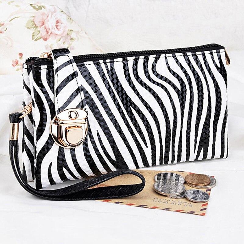 Women Bag Wallets Burse Money-Keys Zipper Fashion Patent Hasp Lady