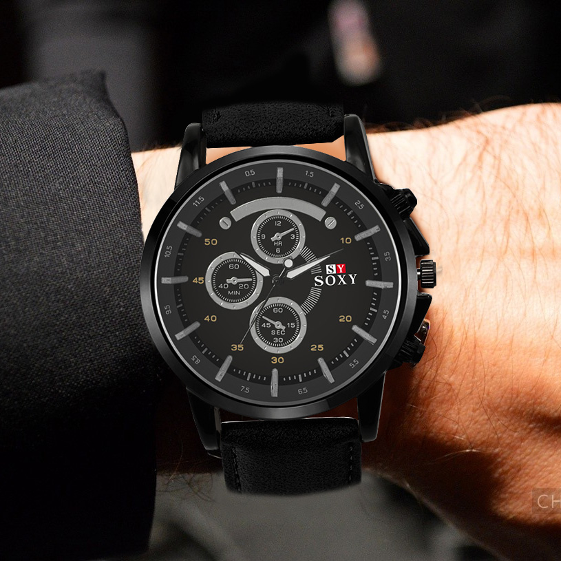 Men's Sport Wrist Watch Mens Watches Top Brand Luxury Men's Watch Men Watch Leather Clock erkek kol saati reloj hombre 2018 все цены