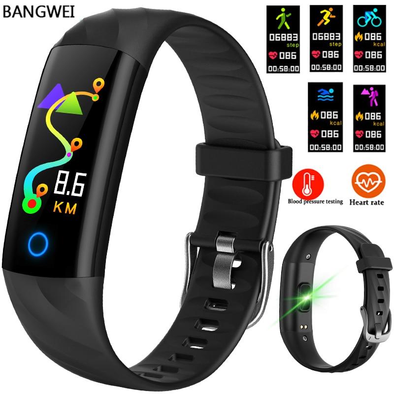 LIGE Smart Bracelet Men IP67 Depth Waterproof Sport Watch Smart Fitness Tracker Blood Pressure Heart Rate Monitoring Pedometer in Smart Wristbands from Consumer Electronics