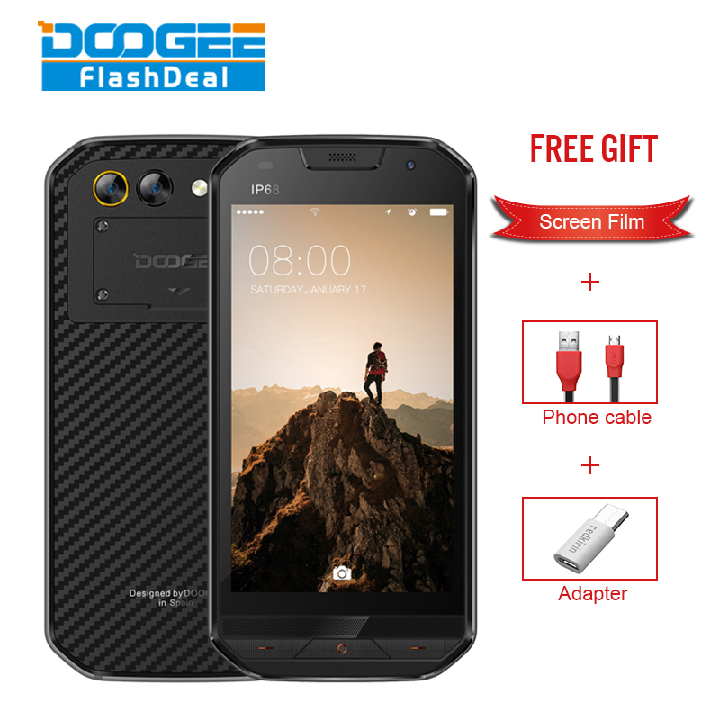 DOOGEE S30 5.0 Inch IP68 Global Rom 2GB RAM 16GB ROM MTK6737V Quad Core 5580mAh 4G Dual SIM Dual Standby Waterproof Smartphone