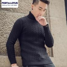 Port & Lotus Männer Pullover Reine Farbe 100% Baumwolle Herren Marke Kleidung Pullover Männlichen Hip hop 002