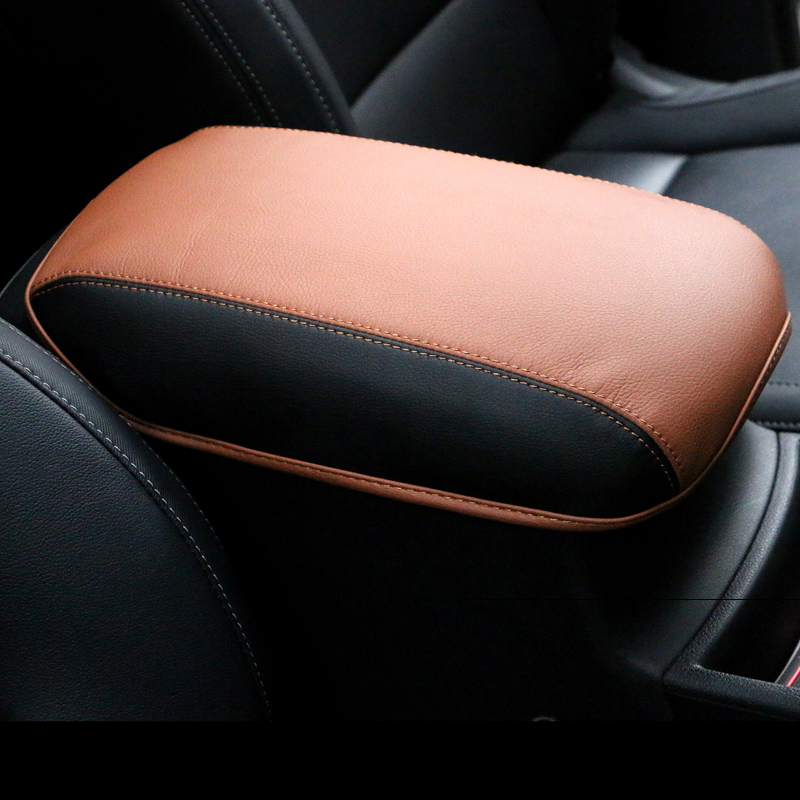 Leather Car Armrest Covers Pad Center Console Seat Armrest Storage Box Mat Protection Cushion AT For Kia Sportage 2016 2017 2018