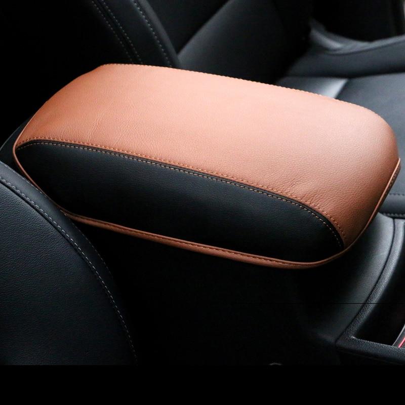 Leather Car Armrest Covers Pad Center Console Seat Armrest Storage font b Box b font Mat