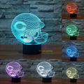NFL Chicago Bears 3D Night Light 1 Set Free Shipping 7 Colors Change LED Table Lamp Xmas Gift Creative Night Lamp