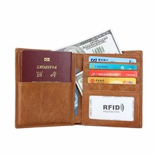 cow Genuine Leather Passport Cover Travel Women Men rfid block minimalist Wallet protection bank ID Credit Card Holder business new pu leather passport cover holder women men travel credit card holder travel id card document passport holder